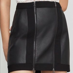 BCBG MaxAzria leather skirt